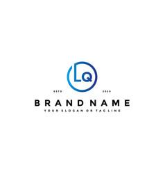 Letter lq logo design vector