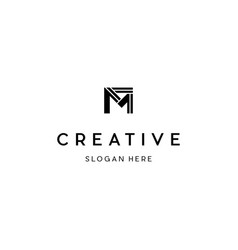 Letter m creative business logo design vector
