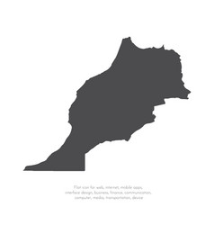 map morocco isolated black vector image