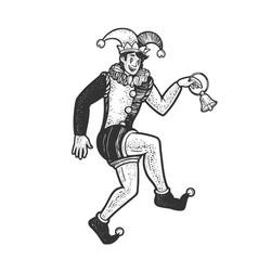Medieval jester sketch vector