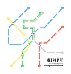 Metro map subway map design template vector