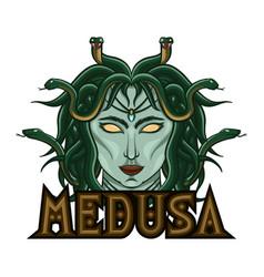 Myth medusa for e-sport logo mascot and print vector