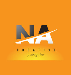 na n a letter modern logo design with yellow vector image