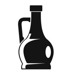 Olive bottle icon simple style vector