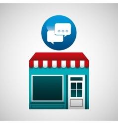Online market buying bubble speech graphic vector