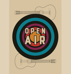 open air festival vintage style poster vector image