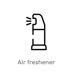 Outline air freshener icon isolated black simple vector