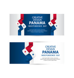 Panama independent day poster creative design vector