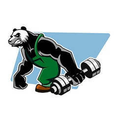 Panda Grab Dumbbell vector