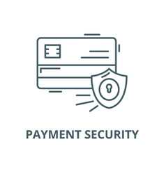 Payment security line icon linear concept vector