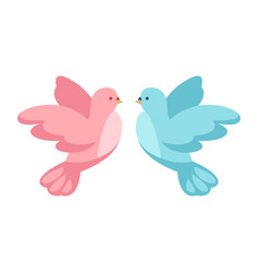pink and blue dove vector image