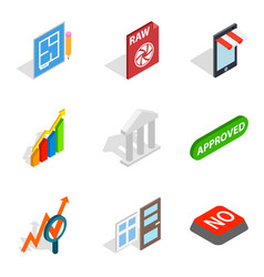 Project director icons set isometric style vector