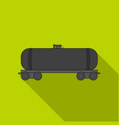 Railway tank caroil single icon in flat style vector
