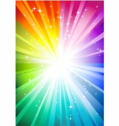 Rainbow sunburst vector