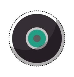 retro vinyl isolated icon vector image