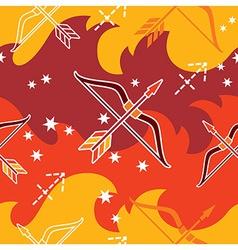 Sagittarius - zodiac seamless pattern vector