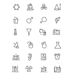 Science Hand Drawn Doodle Icons 3 vector image