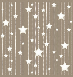 Seamless hanging stars christmas holidays pattern vector