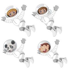 Set astronaut character vector
