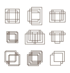 Set of geometric shapes squares and lines for your vector