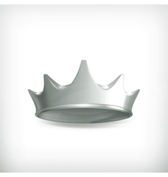 Silver crown vector