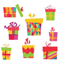 Simple gift boxes vector