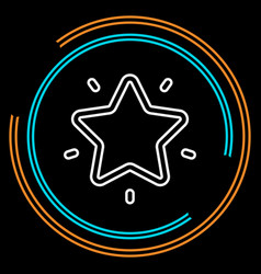 simple star thin line icon vector image