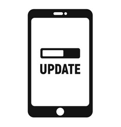 Smartphone update icon simple style vector