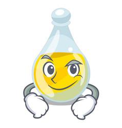 Smirking sesame oil isolated with the cartoon vector