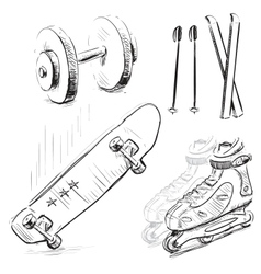 Sport stuff icon set vector image