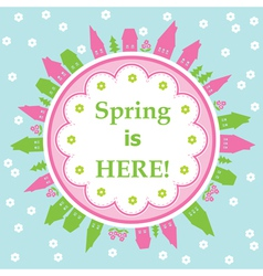 Spring is here theme vector
