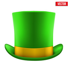 st patrick hat isolated on white background vector image