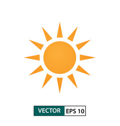 Sunny day weather icon isolated on white eps 10 vector