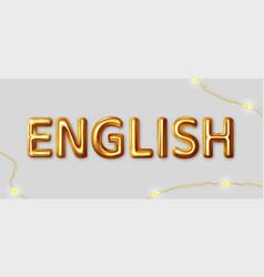 Tags - learn english inscription gold vector