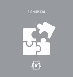 team united strategy - flat minimal icon vector image