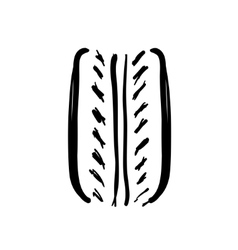 Tire drawn icon vector image