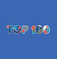 Top 100 concept word art vector