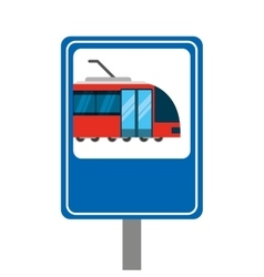 tram transport coveyance icon vector image