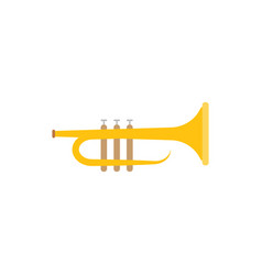 trumpet yellow graphic design template vector image