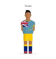 Tuvalu football player Soccer uniform vector