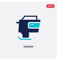 Two color rammer icon from construction concept vector