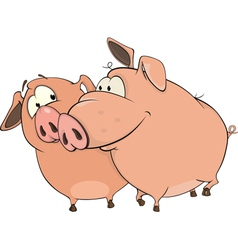 Two pigs Cartoon vector image