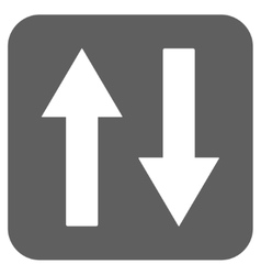 Vertical Flip Arrows Flat Squared Icon vector