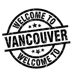 Welcome to vancouver black stamp vector