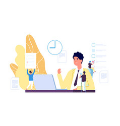 working process business environment vector image