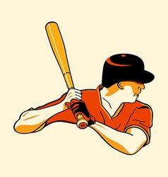 baseball hero vector image vector image
