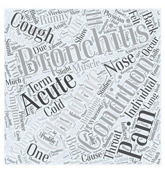 bronchitis symptom Word Cloud Concept vector image