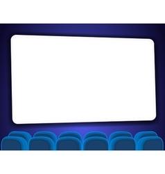 Cinema auditorium with screen vector