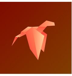 dragon gradient animals origami vector image