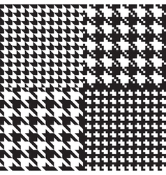 Houndstooth patterns set vector